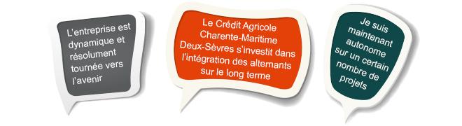 L'alternance avec le credit agricole